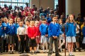 June 2013, 'The World in Folk Song': Soloists from King Solomon Academy, St. Mary's RC Primary, and Burdett Coutts & Townshend Foundation CE Primary take pride in their performance