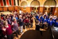 December 2012: The volunteers from The Bach Choir get stuck in with warm-ups too!