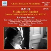 Bach: St Matthew Passion (Recording with Kathleen Ferrier)