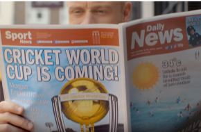 The Bach Choir accompanies Freddie Flintoff in the latest ICC Cricket World Cup 2019 advert
