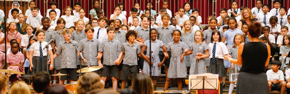 "School children share the joy of singing with our ""Vocalise!"" programme"