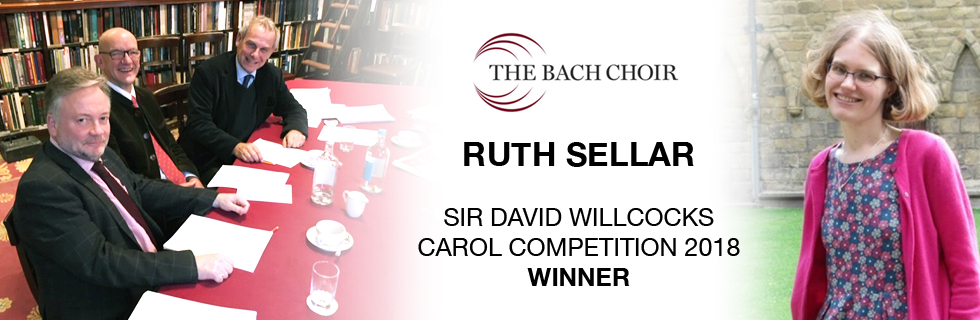 Ruth Sellar wins Sir David Willcocks Carol Competition 2018