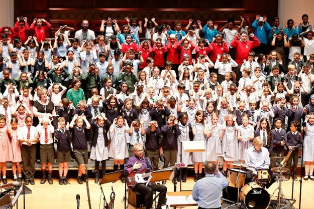 June 2019, 'Lights, Stories, Noise, Dreams, Love, and Noodles': 300 children graced the stage of Cadogan Hall for our 'Sounds of Music' themed concert